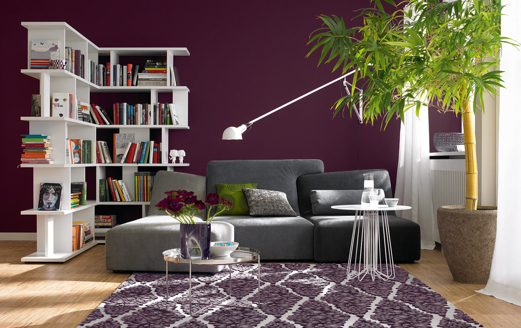 die farbe violett sch ner wohnen farbe. Black Bedroom Furniture Sets. Home Design Ideas