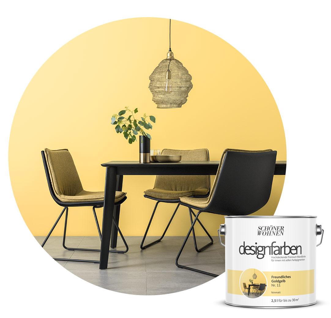 Farbe/Designfarbe/Gelb   Schöner Wohnen Kollektion