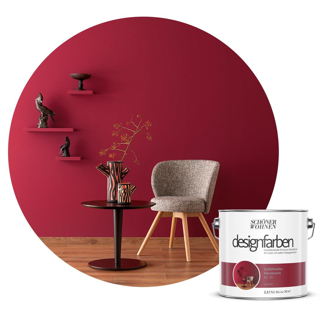 Farbe Designfarbe Rot Schoner Wohnen Kollektion
