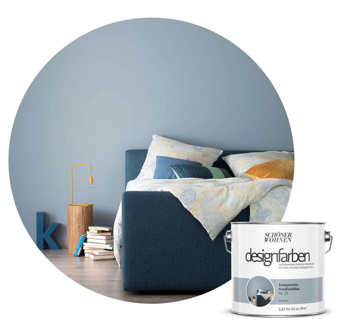Farbe Designfarbe Blau Schoner Wohnen Kollektion