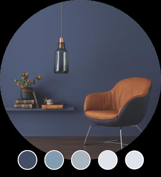 Designfarben Blautöne