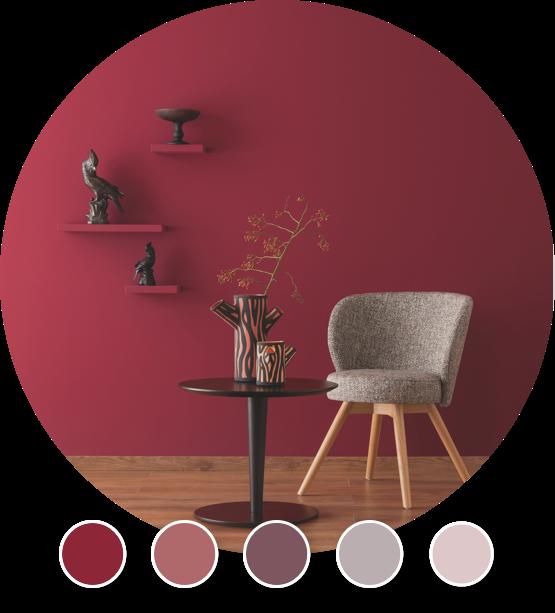 Designfarben Rottöne