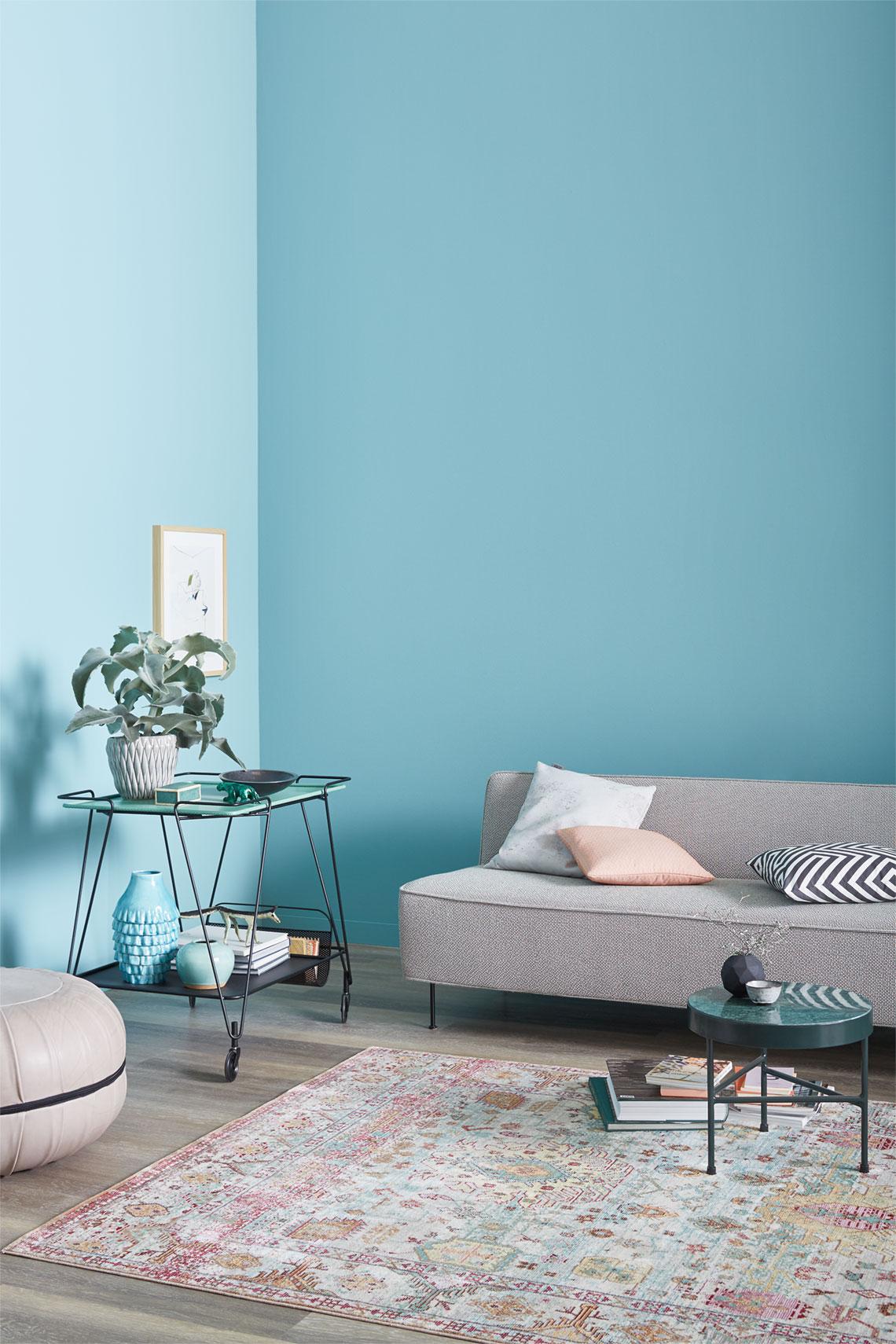Wohnzimmer In Trendfarbe Frozen